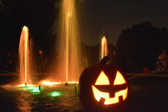 Pumpkin Walk at Twilight