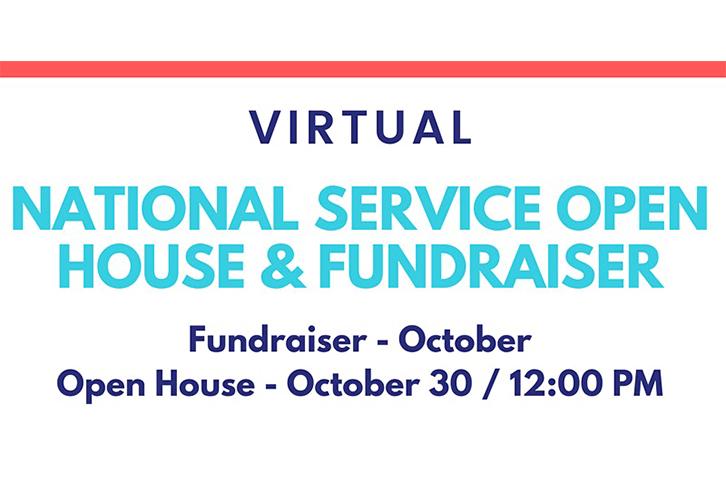 Virtual National Service Open House & Fundraiser