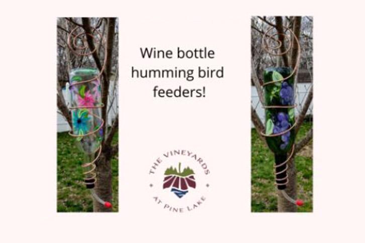 Wine Bottle Hummingbird Feeders