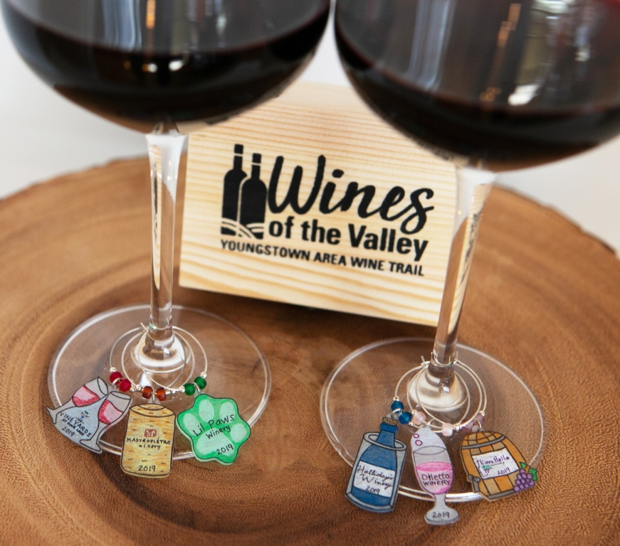 Wines of the Valley Wine Trail Wine Charms